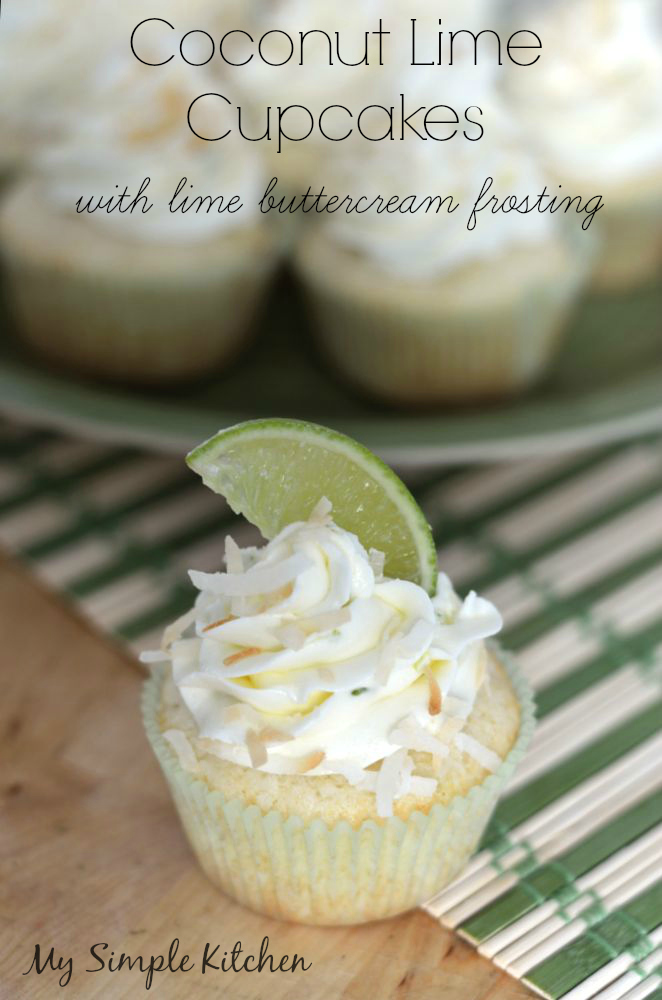 Coconut Lime Cupcakes with Lime Buttercream Frosting