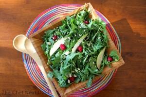 Arugula Pear Rasp Salad