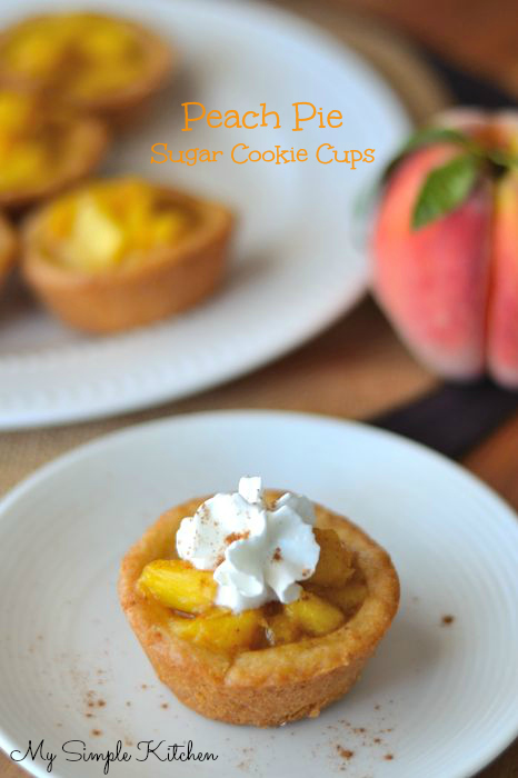 Peach Pie Sugar Cookie Cups