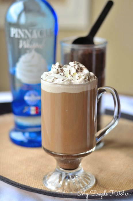 Whip cream coffee cocktail