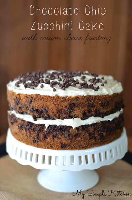 Chocolate Chip Zucchini Cake | My Simple Kitchen